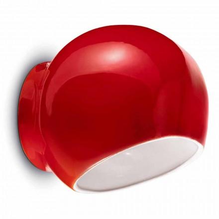 Moderne design keramisk væglampe fremstillet i Italien - Ferroluce Ayrton