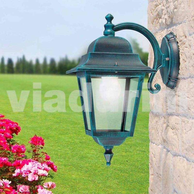 Ekstern aluminium væglampe lavet i Italien, Aquilina