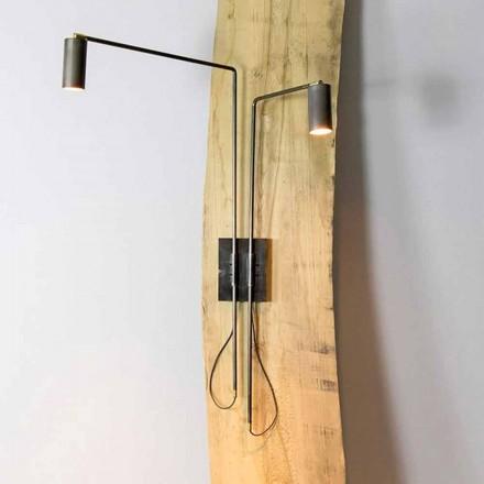 Væglampe i jern og håndværksaluminium fremstillet i Italien - Gemina