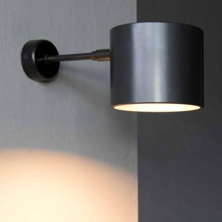 Væglampe i jern og håndværksaluminium fremstillet i Italien - Trema