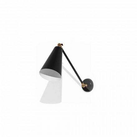 Metal væglampe med detaljer i guldfinish Fremstillet i Italien - Zaira