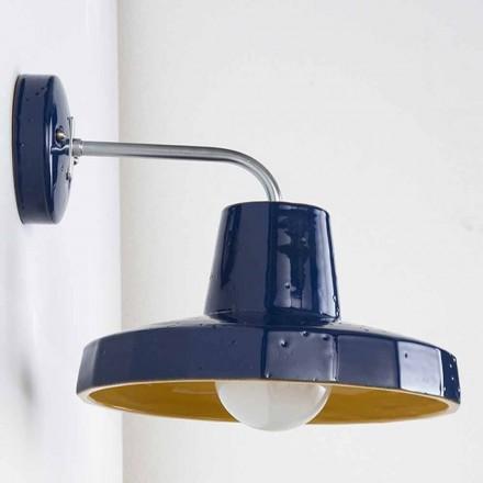 Moderne væglampe i toskanske maiolica og messing, Rossi - Toscot