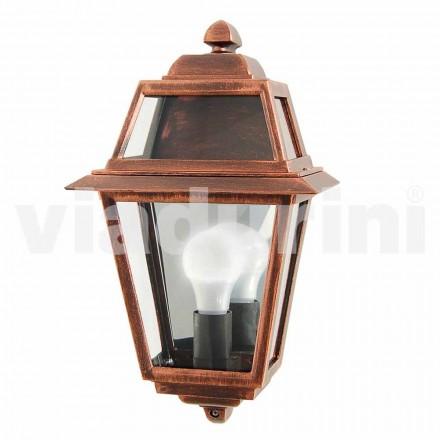 Klassisk udendørs væglampe lavet af aluminium, fremstillet i Italien, Kristel