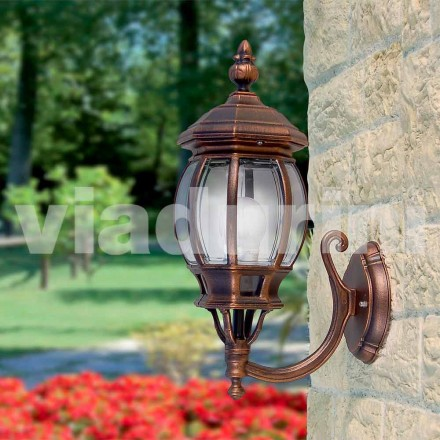 Udendørs væglampe lavet med aluminium, produceret i Italien, Anika