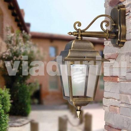 Garden wall lanterm lavet med aluminium, lavet i Italien, Aquilina