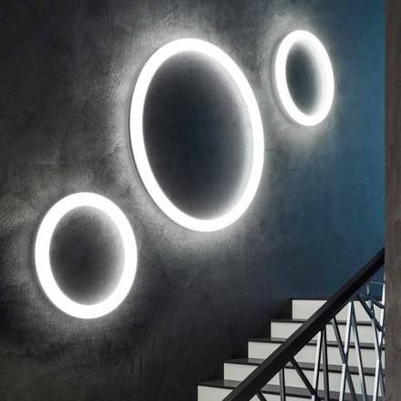 Moderne rund LED-væglampe lavet i Italien i polyethylen - Slide Giotto