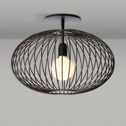 Moderne loftslampe i lakeret stål, 48xH 35 cm, Heila