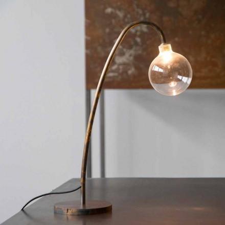 Håndlavet jernbordslampe af guld Finish Made in Italy - Ribolla