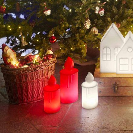 Hvid eller rød lysende stearinlysborddesign af Slide - Fiammetta