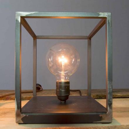 Bordlampe med håndværksjernkonstruktion fremstillet i Italien - Cubola