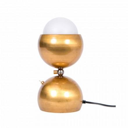 Håndlavet design bordlampe i messing og glas fremstillet i Italien - Gandia