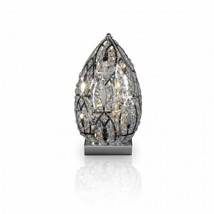 Design bordlampe i krystalform og stål formet Egg Egg