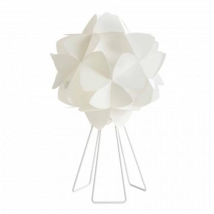 Bordlampe moderne perle hvid design, diameter 46 cm Kaly