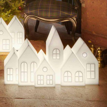Design bordlampe med hvide eller røde ledede huse Design Slide - Kuusi