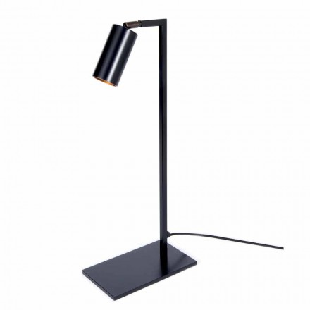 Bordlampe i jern og mat sort aluminium med LED Made in Italy - Agio