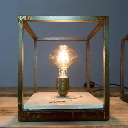 Bordlampe i jern og keramik håndlavet i Italien - Floria