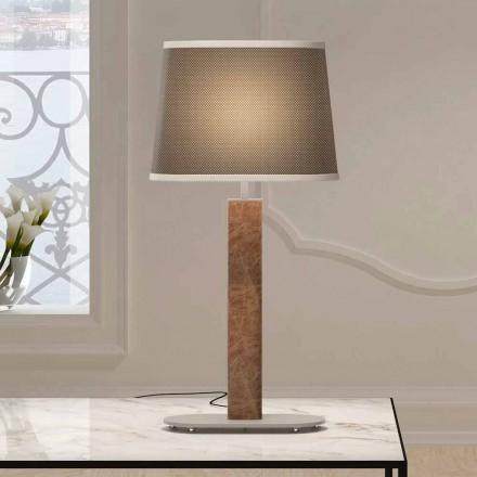 Metal bordlampe med stofskærm Made in Italy - Jump