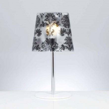Polycarbonat bordlampe med dekorationer, diameter 30 cm, Mara