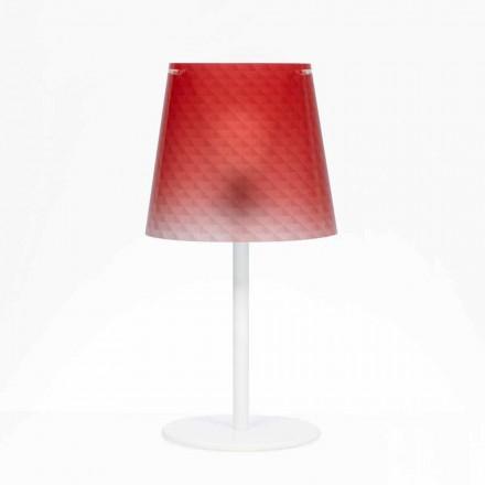 Polycarbonat lampe bord, diamant dekoration, Rania diam. 30 cm