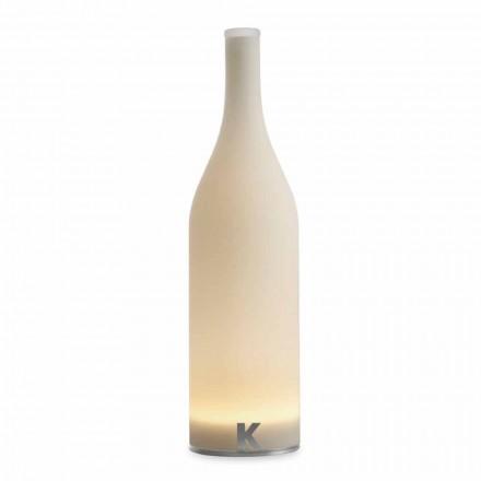 Led bordlampe i hvidt mat glas moderne design - flaske