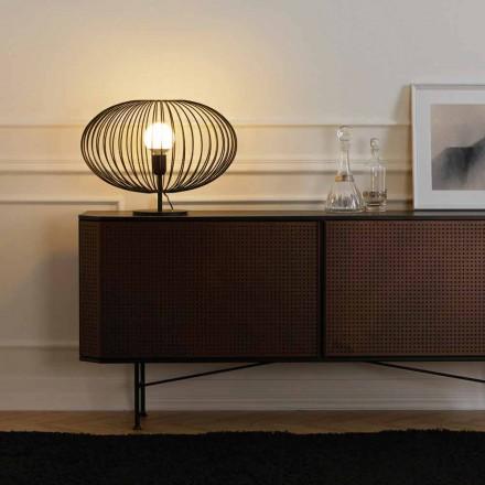 Moderne bordlampe i lakeret stål, 48xH35 cm, Gabriella