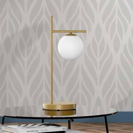Moderne bordlampe i messing og glasfinish Made in Italy - Carima