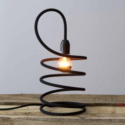 Moderne bordlampe i kobber overtrukket i bomuld Fremstillet i Italien - Fusilla
