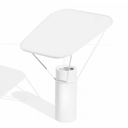 Moderne bordlampe i harpiks og hvid bomuld fremstillet i Italien - Fiera