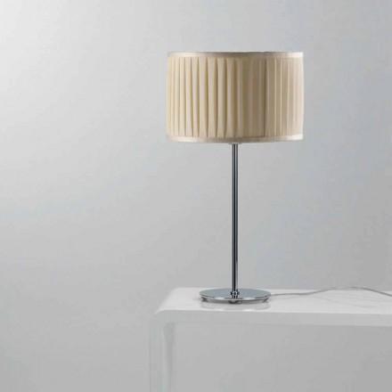 Moderne elfenben silke bordlampe Bambus