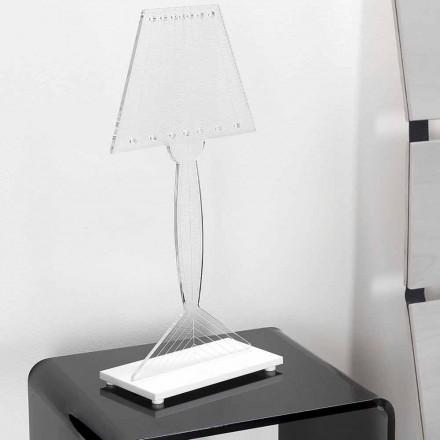Støbt bordlampe i plexiglas, LED lys, Ferla