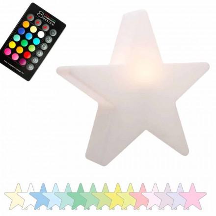 Sol- eller LED-bordlampe, stjernedesign i polyethylen - Ringostar