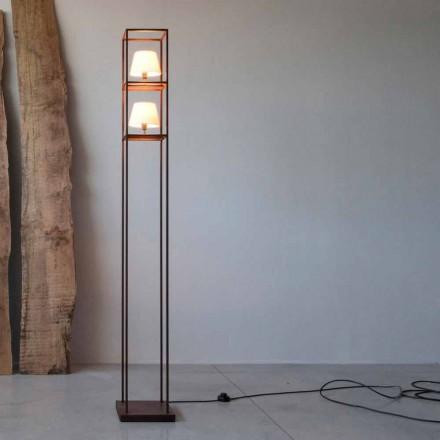 Håndlavet jern gulvlampe Corten Finish Made in Italy - Tower