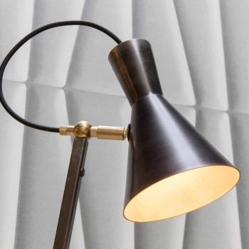 Artisan gulvlampe i sort jern og aluminium fremstillet i Italien - Brema