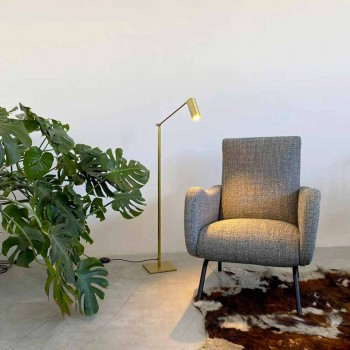 Artisan gulvlampe i natur messing med LED Made in Italy - Agio