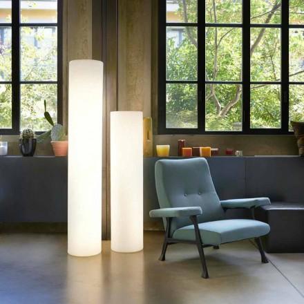 Slide Fluo cylindrisk gulvlampe lavet i Italien