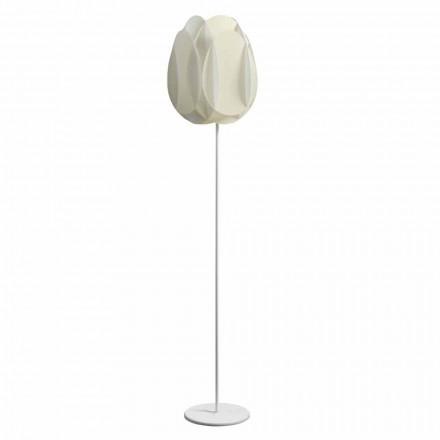 Standerlampe med perle hvid lampeskærm, diam.40xH195 cm, Lora