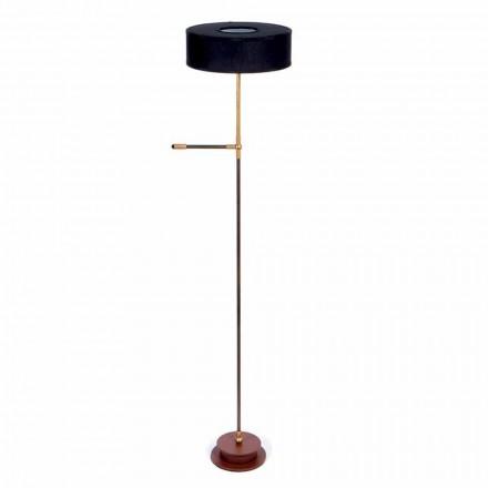 Gulvlampe med håndlavet sort linieskærm Made in Italy - Aurelia