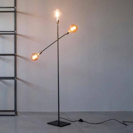 Design gulvlampe i jern med justerbare lys fremstillet i Italien - Melita