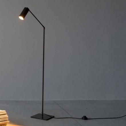 Gulvlampe i jern og aluminium med justerbart lys Made in Italy - Farla
