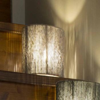 Gulvlampe i messing og farvet uld fremstillet i Italien Evita