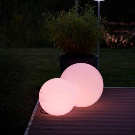 Flerfarvet LED-gulvlampe i hvid polyethylen, rundt design - Globostar