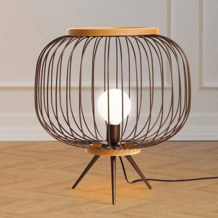 Lampe Moderne design jorden stål 48xH 52 cm Leira