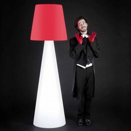 Slide Pivot design hvid gulvlampe, lavet i Italien