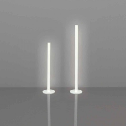 Slide Flux slank gulvlampe i methacrylat produceret i Italien