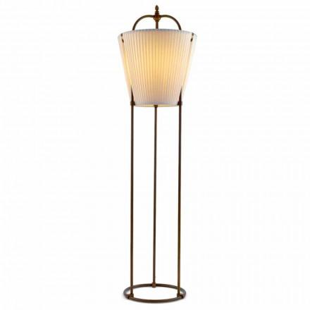 Tenarunga gulvlampe, antik messing, 1 lys