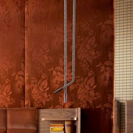 Grilli Snake lavet i Italien læder og metal design lampe