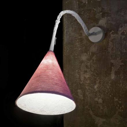 Designer væglampe In-es.artdesign Jazz En Stripe farvet uld