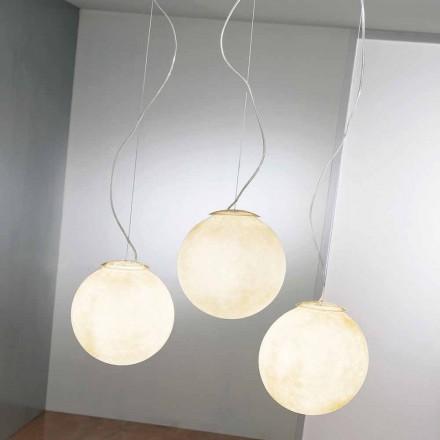 Suspension design lampe In-es.artdesign Tre Lune i nebulite