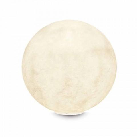 Borddesignlampe In-es.artdesign T.moon i hvid nebulit