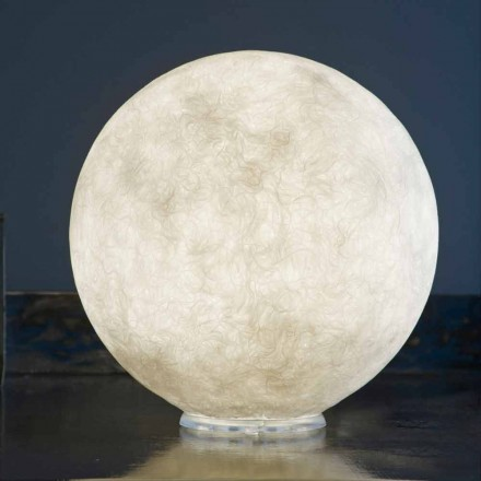 Borddesignlampe In-es.artdesign T.moon i hvid nebulit